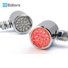 24 Red LED Custom Chrome Brake/Running/Turn Signal Tail light motorcycle cruiser