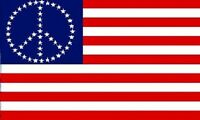 Usa American Flag With Peace Sign Symbol Hippie Banner United States 3x5
