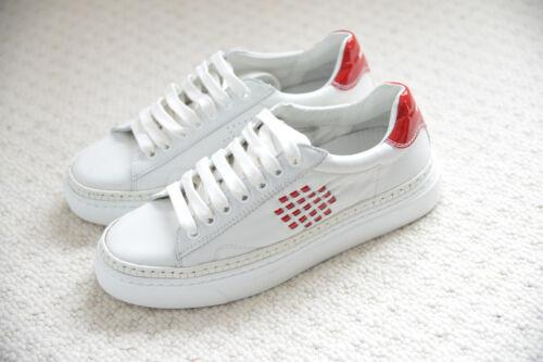 En Uk4 Anniversary Baskets Premium Baskets Cuir Rouge Nouveau Chaussures Bepositive Blanc pvwT1XXq