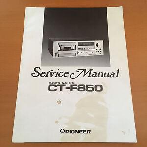 pioneer ct f850 cassette repair service manual schematics factory rh ebay ca 1966 Ford F850 Fire 1964 Ford F850 Fire
