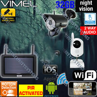 Cctv Home Security System Wireless Cameras Hd Ip Wifi Surveillance Remote View