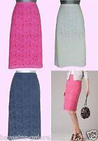 Boden Skirt Broderie Floral Pink Navy White Summer Cotton Size 6-22 Reg Long