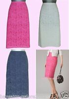 Boden Skirt Broderie Floral Pink Navy White Summer Cotton Size 6-22 Reg Long
