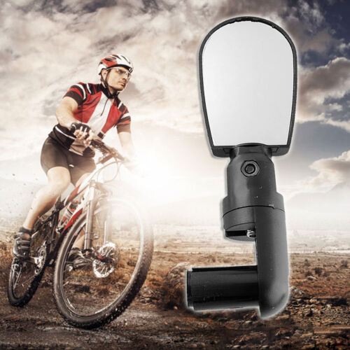 Adjustable Bicycle Bike Driving Cycling Rear View Mirror Road Vision Lens Black