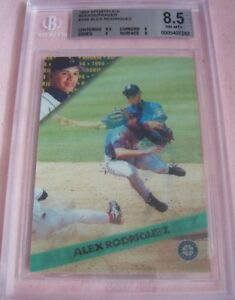 1994 Sportflics Rookie/Traded R/T full set Alex Rodriguez RC graded BGS 8.5 PSA