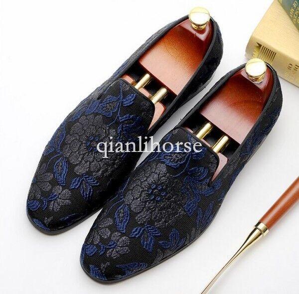 Ronda Toes bordado de lujo para hombre Formal Zapatos T show Zapatos Informales Mocasines US talla