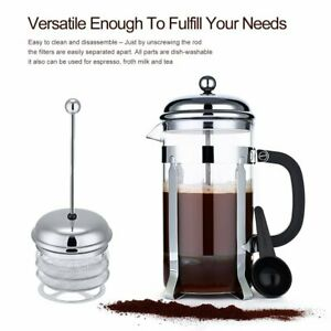 ICOCO-Glass-Coffee-Tea-French-Press-Stainless-Steel-8-Cup-1-liter-32-oz-BT