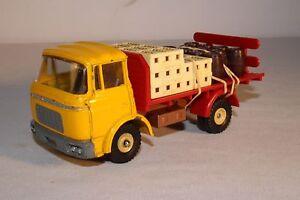 1960-039-s-Dinky-Toys-488-Berliet-Gak-Flatbed-Truck-with-Cargo-Nice-Original