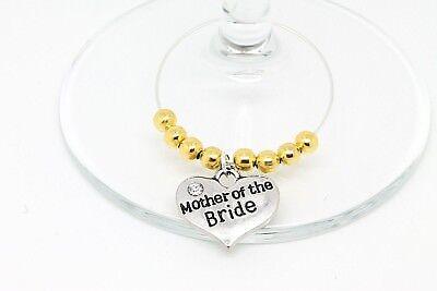 Ordinato Oro Personalizzato Wedding Guest Vino Vetro Charms Favorisce Decorazioni Tavola- Ad Ogni Costo
