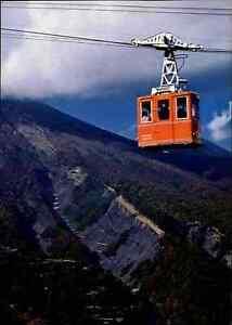 JAPAN-Post-Card-Postkarte-Gondelbahn-Bergbahn-Ansichtskarte-color-ungelaufen