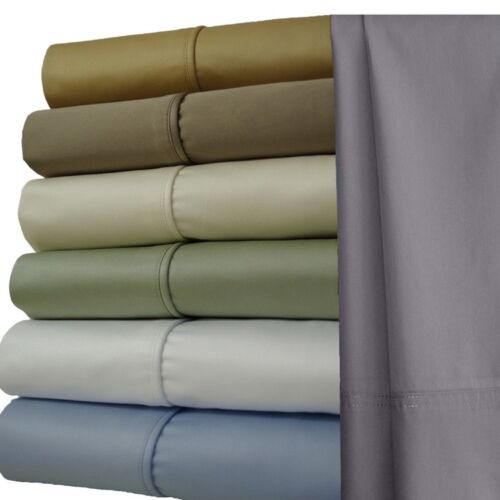 1000 Thread Count Cotton Bed sheet Set with Extra Deep 22 inch Pockets