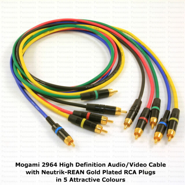 MOGAMI 2964 HIGH DEFINITION AUDIO RCA CABLE, CHOOSE YOUR OWN OPTIONS