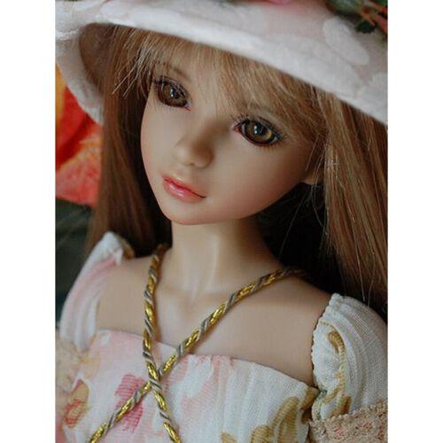 1//4 BJD SD Dolls Pretty Girl Female 17/'/' Resin Bare Doll Eyes Face Makeup