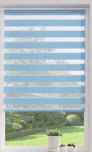 klemmfix doppelrollo duo rollo aqua blau klemmrollo nevis 40 120 cm breit ebay. Black Bedroom Furniture Sets. Home Design Ideas