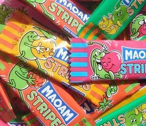 2019 Nouveau Style Haribo Maoam Rayures Fruit Snacks à Bonbons Enfants Pick N Mix Ou Baignoire Fête Rétro-afficher Le Titre D'origine
