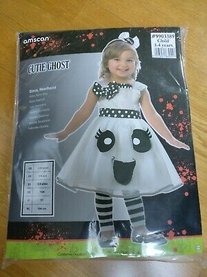 Amscan Cutie Ghost Toddler Halloween Fancy Dress Outfit Costume