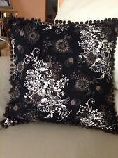 New Decorator Accent Pillow Black, Mocha, and Ecru Mod Floral