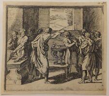 L'onction de David, eau-forte d'Orazio Borgianni après Raphael, 1615