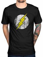 Official DC Comics Flash Logo T-Shirt Big Bang Theory Sheldon Cooper Distressed