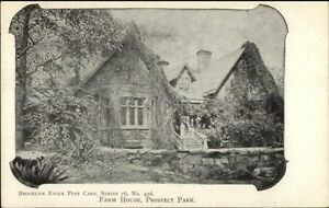 c1905-Brooklyn-NY-Eagle-Postcard-456-Farm-House-Prospect-Park