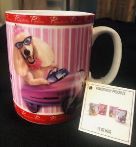 * Nouveau * Voyage Chiens Mug Pawsitively précieux 18 oz (environ 510.28 g) LG caniche Tasse à café de collection