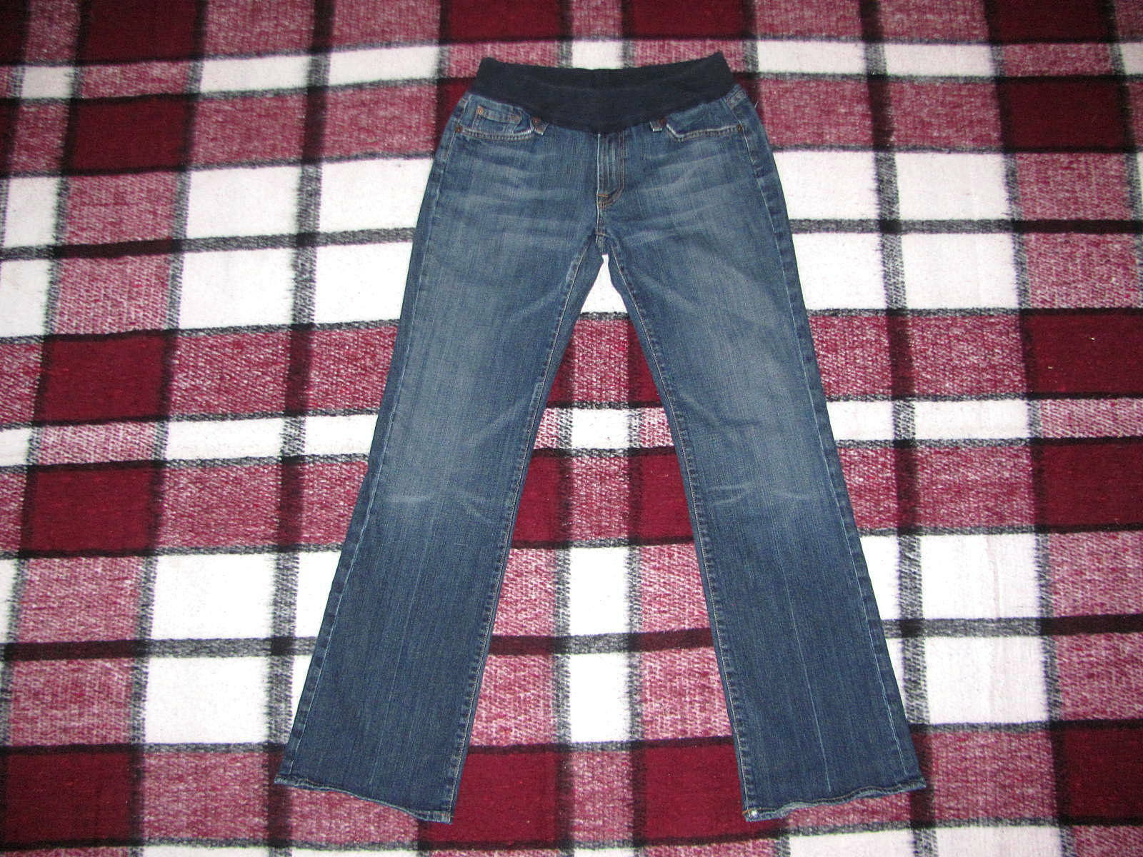 7 For All Mankind {Size 32} Women's Maternity Jeans EUC bluee Boot Cut Denim