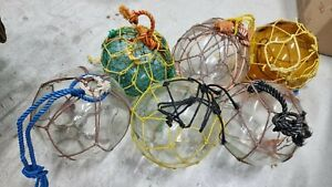 Japanese glass fishing float 200mm x 6