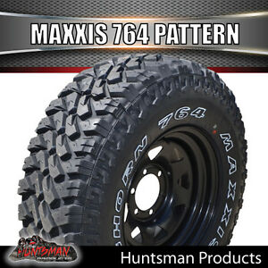 15x8-BLACK-WHEEL-FITTED-TO-MAXXIS-BIGHORN-764-33-12-5-15L-T-MUD-TYRE-33-12-5R15