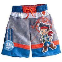 Disney Store Jake And The Never Land Pirates Swim Trunk Boy Size 4