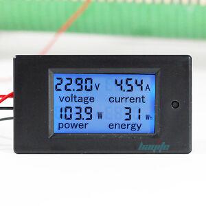 100A-DC-Digital-Watt-KWH-Current-Power-Energy-Meter-Ammeter-Voltmeter-7-100V-US