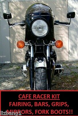 CB900 CB550 CAFE RACER KIT FAIRING CLUBMAN BARS GRIPS BAR END MIRRORS FORK BOOTS