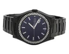 Mens Gucci 115 Pantheon Black PVD S.Steel 44MM Diamond Watch YA115244 2.25 Ct