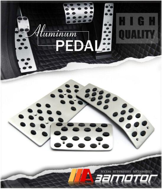 Auto Aluminum Circle Pedal 3PC Set Gas Brake Footrest For