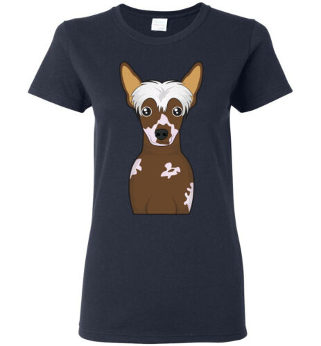 Chinese Crested Dog Cartoon T-Shirt Tee Men Women Youth Kids Tank Long Sleeve