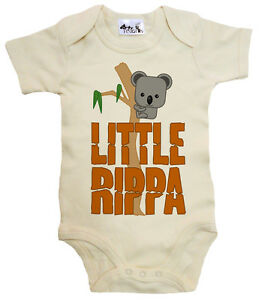 Dirty-Fingers-034-Little-Rippa-034-Baby-Bodysuit-Baby-grow-Vest-Koala-Bear-Australia