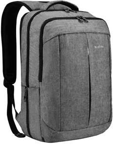 17 Inch Laptop Backpack for Men Women Business Travel Bag School Rucksack Grey