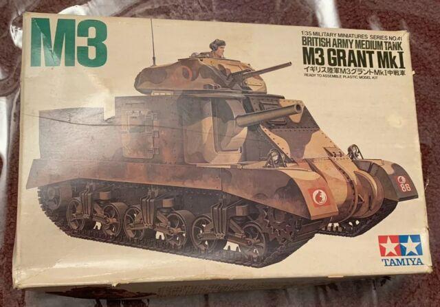 Vintage Tamiya 1/35 MM141 M3 Grant MKI British Army Medium Tank Model Kit  MIB