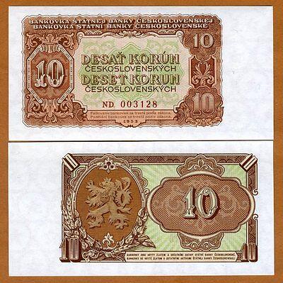CZECHOSLOVAKIA 3 KORUNY 1953 P79b UNCIRCULATED