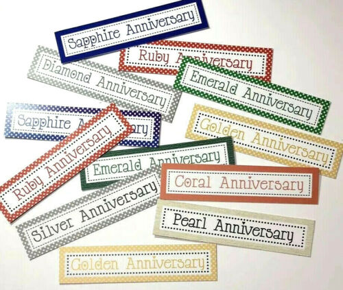 ANIOB 12 ANNIVERSARY MIXED MESSAGE Sentiments//Banners Hand Made Card Toppers