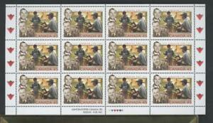 CANADA-SHEET-1636-45c-x-12-CANADIAN-TIRE-75th-ANNIVERSARY-90-OF-FACE