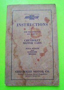 Original-1923-CHEVROLET-OWNER-MANUAL-4-90-amp-Superior-Models-FACTORY-ORIGINAL-vg