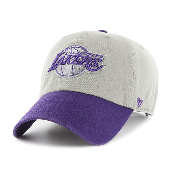 cf8e1f2b238bc Buy Los Angeles Lakers 47 BRAND Clean up Hat Adjustable Cap 2 Tone online