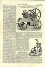 1892 Trusty Portable Oil Engine Newall Sheep Shearing Cardiff Bute Docks Scheme