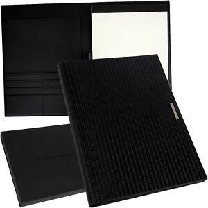 HUGO BOSS - A4 - Leder Schreibmappe -  Schreibblock Meeting Mappe - Auto - NEU