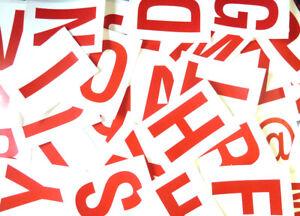 115mm 103cm rouge sur blanc collant lettres-lettrage stickers-PLASTIQUE ALQ10DsR-07135318-286120661
