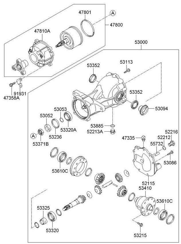 Hyundai Oem 07 12 Veracruz Rear Axle Seals 5306839300 For Sale