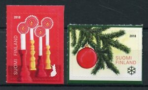 Finland Christmas Decorations.Details About Finland 2018 Mnh Christmas Decorations Trees Candles 2v S A Set Stamps