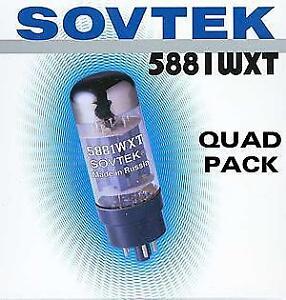 Sovtek 5881WXT  Power Vacuum Tube Platinum Matched Quad