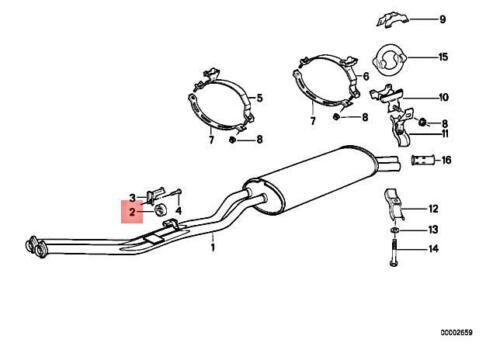 Genuine BMW M3 Z3 114 E12 E21 E23 E24 E28 E30 E36 1502 Rubber Ring 18211105635
