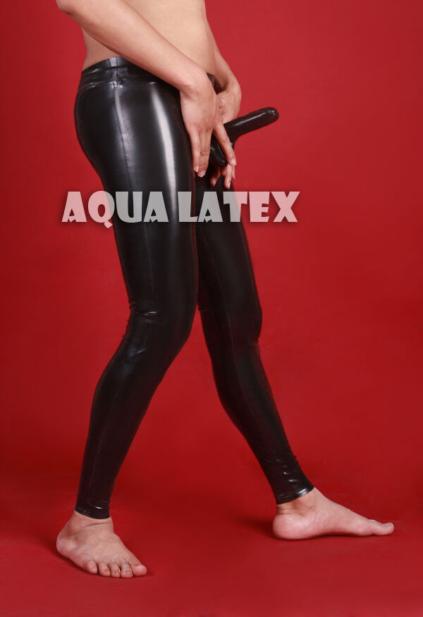 Man's Rubber Trousers Sexy Tight Latex Pants Long Trousers (Free Shipping)